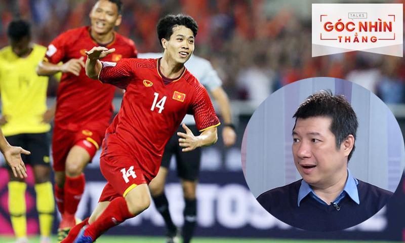 BLV Quang Huy có những chia sẻ về trận đấu giữa đội tuyển Việt Nam (trái) sẽ gặp UAE và Thái Lan chỉ trong ít ngày
