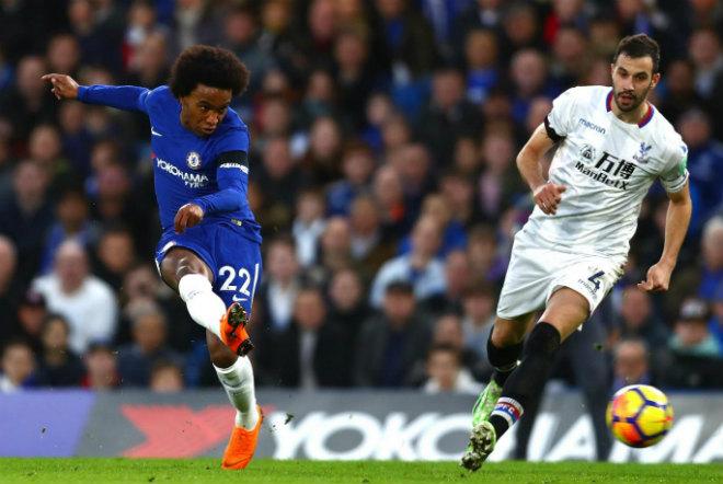Willian chơi rất hay và giúp Chelsea áp đặt Crystal Palace