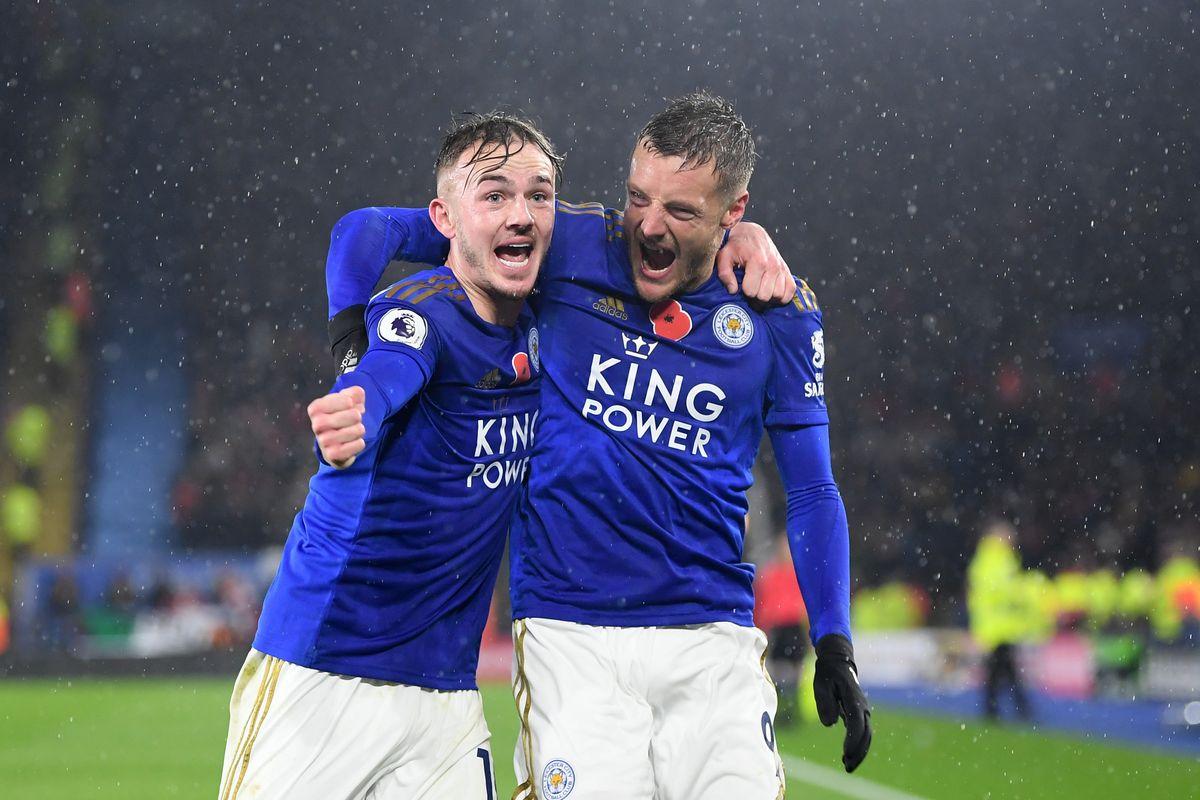 Vardy và Maddison ghi bàn giúp Leicester hạ gục Arsenal